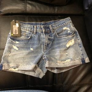 Allsaints distress shorts sz 26